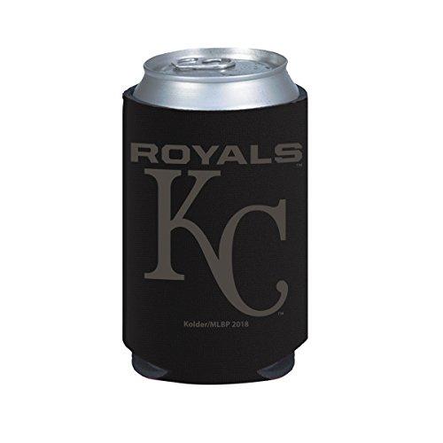 Kansas City Royals 2-Pack BLACK TONAL CAN Koozie Neoprene Holder Cooler Baseball ()