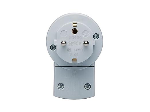 Legrand, 050409 Bases y clavijas - Adaptador de enchufe con interruptor, permite controlar el encendido y apagado de los electrodomésticos, en color blanco, ...