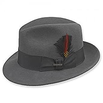 84cae31af936d1 Stetson Frederick Fedora in Caribou Grey at Amazon Men's Clothing store: