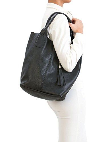 femme porté Sassi Sac Noir Pia épaule 0wqzxnR