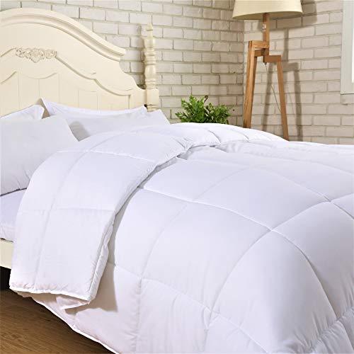 - SNUZZZZ Premium Alternative Down Comforter Duvet Insert with Nanotex, Hypoallergenic and Reversible