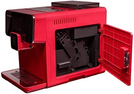 Oursson Machine à Café Super Automatique, Broyeur en Céramique, Écran tactile, Espresso, Cappuccino, Latte, 19 bar, Rouge, AM6250/RD, 1.7 Litres