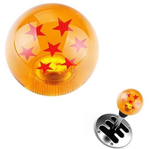 7 Star Ball Manual Stick Shift Knob with 3 Adapters,Fits Most Cars,Clear and Transparent, Flashing Mysterious Aura of Jesus