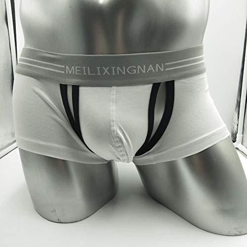 Lanlan Del Bolsas Hombre Alto Ropa Pantalones De Desmontable U Blanco Elástico Boxer Debajo Sexy Hombres Boxer Interior Convexas Calzoncillos rnrTqaf
