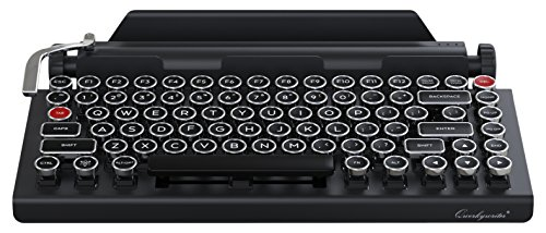 41zjf 2Bo0qAL - Qwerkywriter Typewriter Wireless Mechanical Keyboard with Integrated Tablet Stand