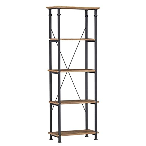 homelegance 3228 12 bookcase shelves brownblack - Reclaimed Wood Bookshelves