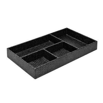 SOHO Rectangular Tray Black & White Black by Soho