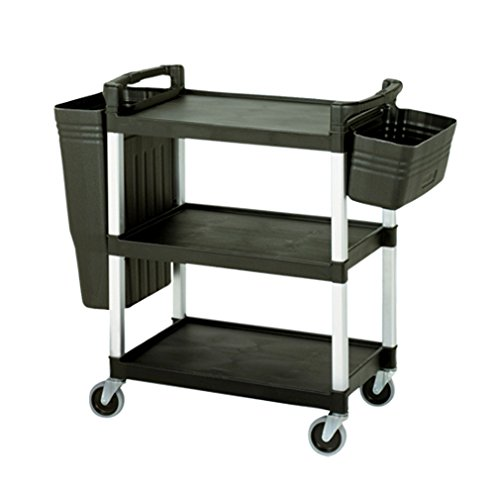 Boss Cleaning Equipment B010069 Utility/Bussing Cart with Tool and Refuse Bin by Boss Cleaning Equipment