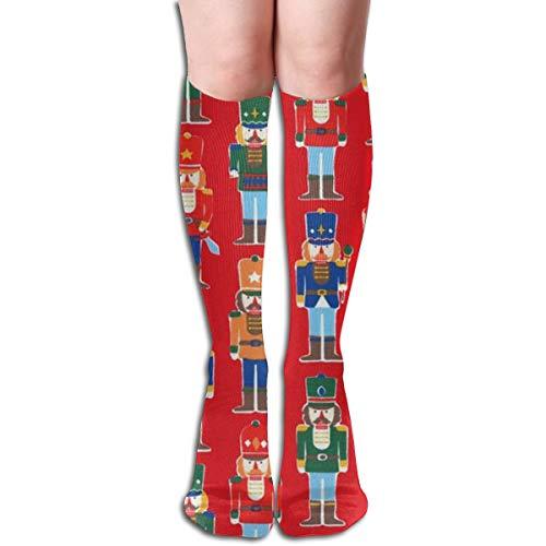 17Soclle Nutcracker Ballet Toy Soldier Compression Socks Men & Women Running, Athletic Sports - Below Knee High