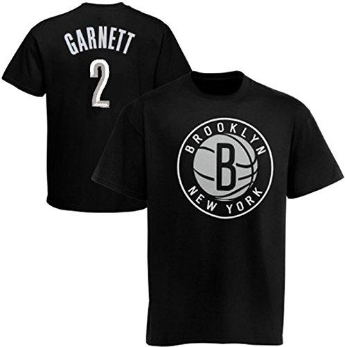 Majestic Brooklyn Nets NBA Kevin Garnett #2 Boys Tee Shirt Black Youth Sizes (XL)