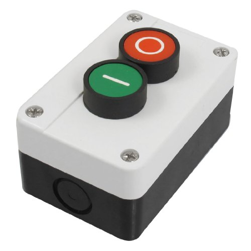 Uxcell s13080700am0368 AC 600V 10A Momentary Red Green Sign NO NC Push Button Switch Station