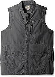 White Sierra Men\'s Traveler Vest, Large, Caviar