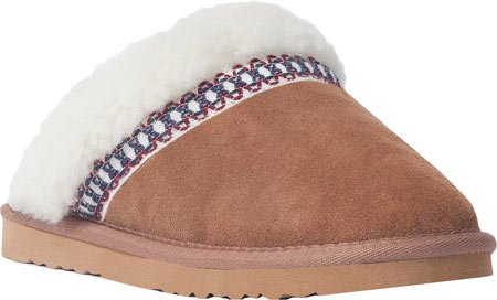 picture of MUK LUKS Women's Dawn Suede Scuff,Light Brown,US 7 M