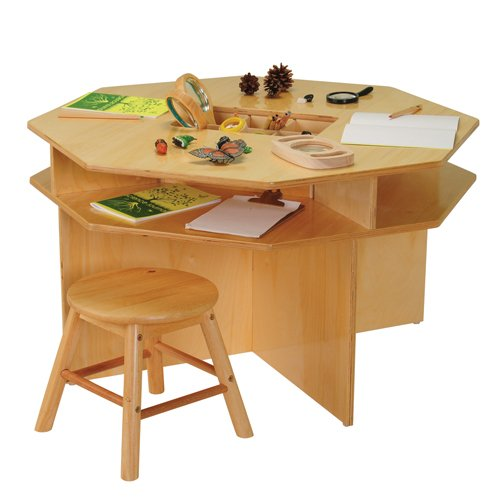 Children'S Discovery Table With 4 Classroom Stools