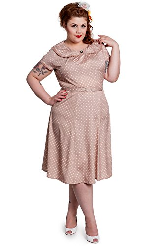 Hell-Bunny-Ingrid-50s-Pin-Up-Rockabilly-Latte-Polka-Dot-Plus-Size-Dress