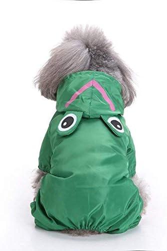 (エスライフ) S-Lifeeling レインコート カエル柄 ペット服 可愛い おしゃれ 帽子付き 雨合羽 ドッグウェア 防水 雨の日 雨具 小型犬 中型犬 雨天対策 犬用品
