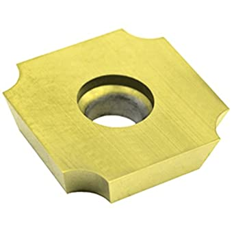 """Dorian Tool SDGX Multilayer Coated Carbide Square Convex Milling Indexable Insert, 0.1562"""" Nose Radius, 3/4"""" Insert, 3/16"""" Thick (Pack of 10)"""