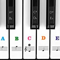 Piano Stickers for Keys For 49/61 / 76/88 Key Keyboards,...