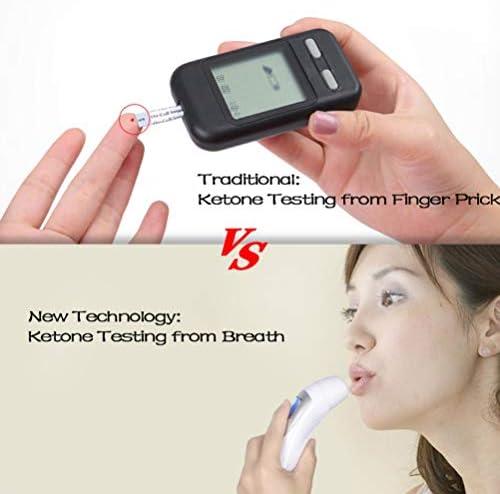 Ketone Breathalyzer, Ketogenic Breath Ketosis Breath Ketone Analyzer with 10 Mouthpiece(White) 5