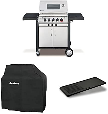 Enders Switch Grid Reversible cast Iron Griddle Gas Barbecue Monroe Pro 4 SIK Turbo Black