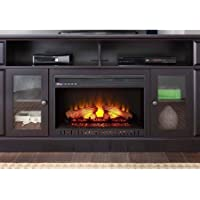 Barston Laminated Wood Fireplace for TVs up to 70, Espresso
