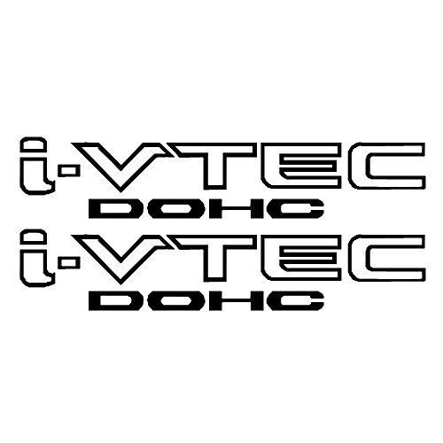 CloudWorks I-VTEC DOHC STICKER DECAL EMBLEM CIVIC S2000 ACCORD JDM 2 Pieces (BLACK) ()