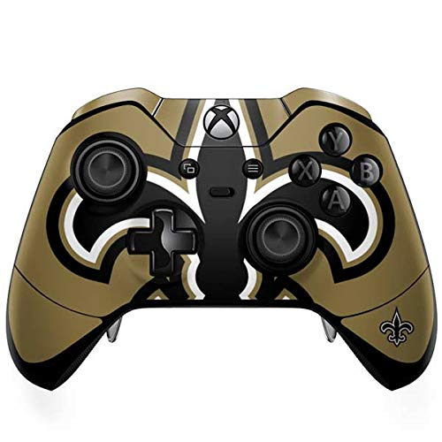 Saints New Orleans Controller (Skinit New Orleans Saints Large Logo Xbox One Elite Controller Skin - Officially Licensed NFL Gaming Decal - Ultra Thin, Lightweight Vinyl Decal Protection)