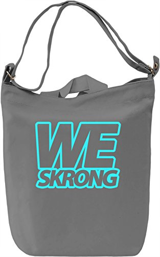 We Skrong Borsa Giornaliera Canvas Canvas Day Bag| 100% Premium Cotton Canvas| DTG Printing|