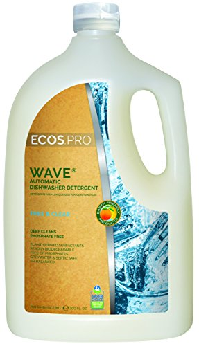 ECOS PRO PL9365/04 Wave Gel Auto-Dishwasher Detergent, Free and Clear (Pack of 4)