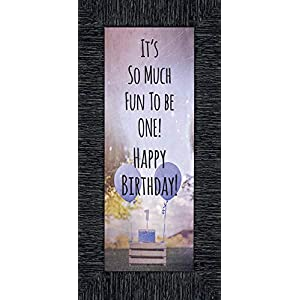 CROSSROADS HOME DÉCOR Birthday Boy, My First Year Moments, Baby Keepsake Picture Frame, 6×12 7403CH