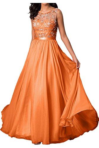 mujer Vestido para Topkleider naranja trapecio PAXtTnZnqx