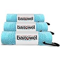 Bait Towel Hands Free Microfiber 3 Pack (Caribbean Blue)