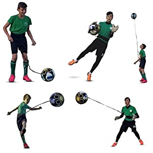 KickTHROW Soccer/Football Kick/Throw Trainer Solo Practice Training Aid Control Skills Adjustable Waist Belt