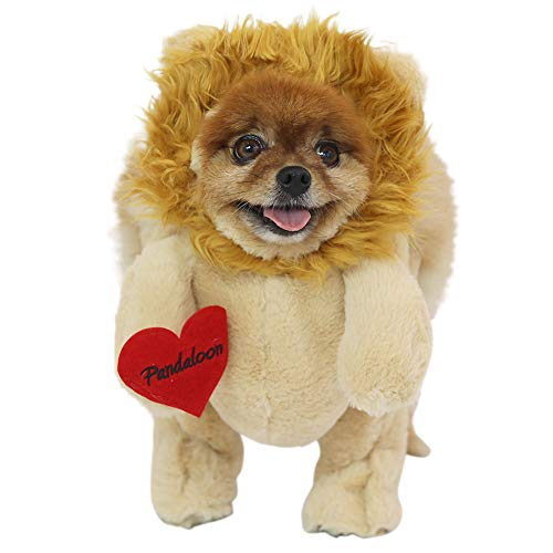Pandaloon Lion Dog and Pet Costume Set - AS SEEN ON Shark Tank - Walking Teddy Bear with Arms (Size 3 (17-19.5 in Total Height), Lion (Orange))]()