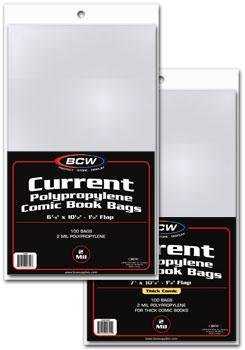BCW Current Comic Bag Thick 7 X 10 1/2 100 Pack