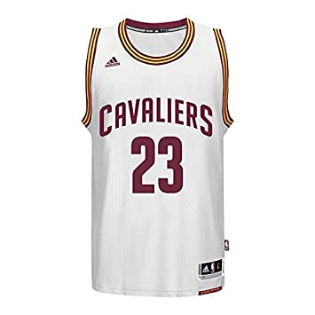 uk availability 34895 cd5bd adidas Lebron James Men's White Cleveland Cavaliers Swingman Jersey