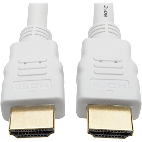 Price comparison product image Tripp Lite High Speed HDMI Cable, Ultra HD Digital Video Audio 4K @ 30Hz M/M, 10', White (P568-010-WH)