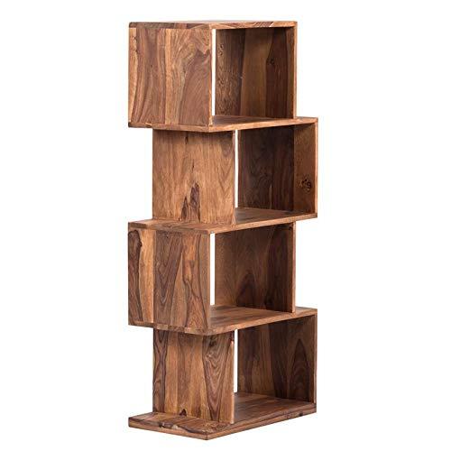 Avalon Mid-Century Modern Sheesham Wood Bookshelf - 4 Shelves