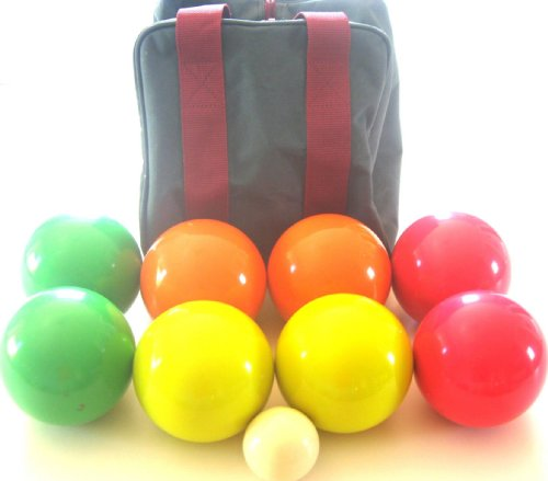 Premium Quality EPCO Tournament set, with STRIPES - 110mm Glo Bocce Balls with nylon bag [Misc.] by Epco