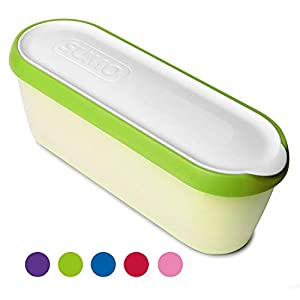 SUMO Homemade Ice Cream Containers: Dishwasher Safe Tub. 1.5 Quart (1-Pack, Green)