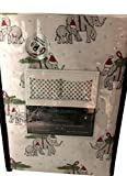 Cynthia Rowley Set of 2 Pillowcases Cotton Elephants with Baby Santa Hat and Tree Trunk Up Good Luck Hostess Grab Bag Gift