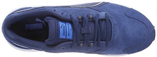 Puma Descendant V3 Suede - Zapatillas para hombre azul - Blau (poseidon-white-cloisonné 01)