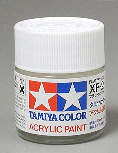 (Tamiya America, Inc Acrylic XF2 Flat, White, TAM81302)