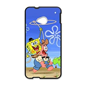 Cheerful Lovely SpongeBob Cell Phone Case for HTC One M7 by ruishername