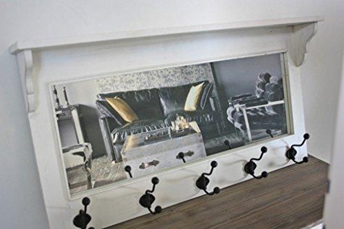 Elbmobel Garderobe Mit Spiegel Holz Antik Weiss Landhaus Cottage