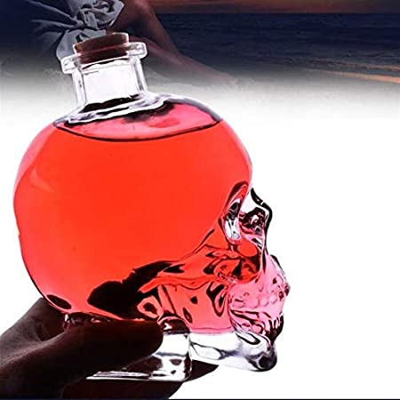 Without Copas de Vino inquebrantable Copa de Vino Gigante -Shot Vodka Cráneo de Cristal Cabeza Copa Whisky Vino té Botella de consumición Tiro Decanter Vasos Bar Herramientas Copas de
