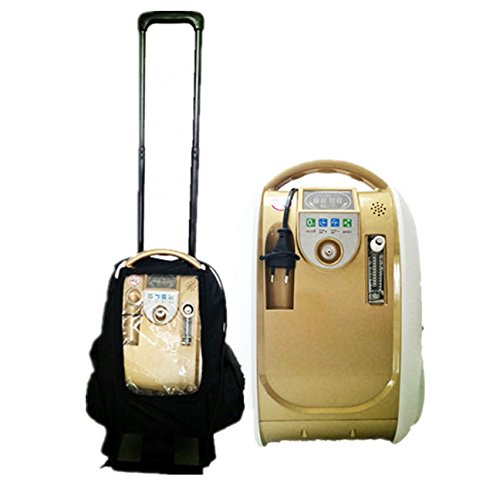 Portable DHL Delivery 1L Portable O2 generator ,Full Intelligent Home Oxygen Concentrator Generator ,Air Purifier Oxygen Generatorwork compact Silent(110v, Battery, Trolley and Carry bag Include)