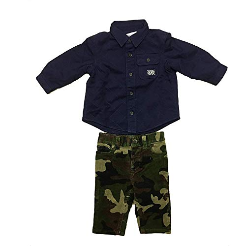 (RALPH LAUREN Polo Baby Boy's Two Piece Quilted Long Sleeve and Camo Dress Pant)