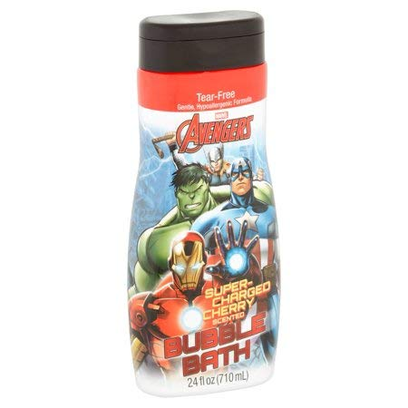 Marvel Avengers Gentle Hypoallergenic Super-Charged Cherry Scented Bubble Bath - 24 fl. oz