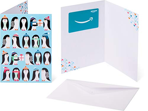 Amazon.com Gift Card in a Greeting Card -  Penguin Colony Design